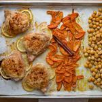 Ужин на противне: Курица с нутом по-североафрикански