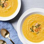 Пряный суп-пюре с бататом и чесноком
