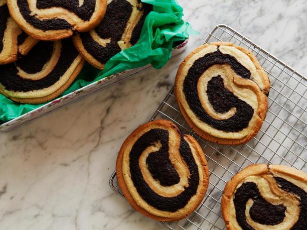 Фото Печенье с арахисовой пастой и брауни