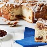 Инжирный пирог на сметане с ароматом кофе и бурбона